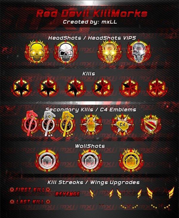 Red Devil KillMarks для CrossFire (КиллМарки)
