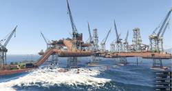 Большая нефтяная платформа v.3 в GTA 5